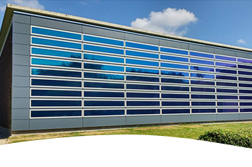 Solar active facade from Heliatek for ENGIE's research center Laborelec