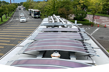 First Heliatek OPV project in Japan - Ritsumeikan University bus stop